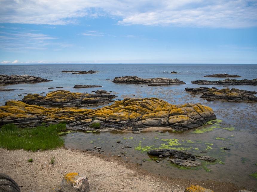 Wybrzeże wmiejscowości Listed, Bornholm