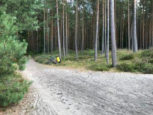 Ścieżka rowerowa zaUstką - niezła piaskownica