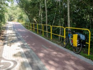 Fragment trasy rowerowej R-10 wzdłuż Bałtyku