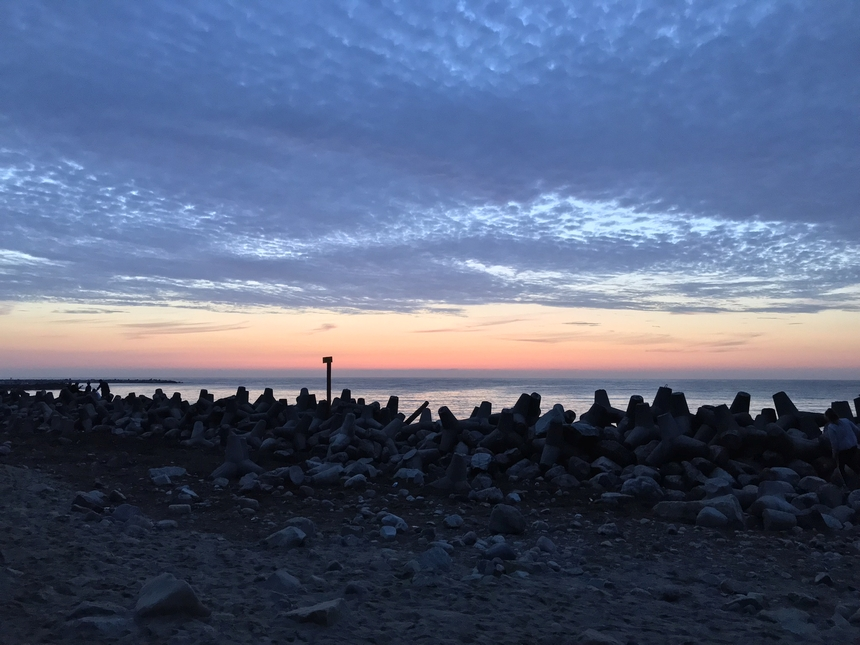 Zachód słońca wJarosławcu