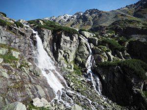 Wodospad Skok - wdrodze naBystrą Ławkę, Tatry Wysokie