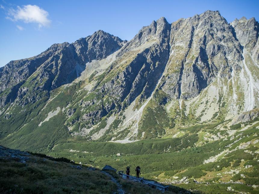 Wędrówka naRysy - podejście podŻabią Dolinę Mięguszowiecką