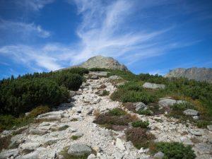 Ostatni widok naKrywań przyzejściu niebieskim szlakiem