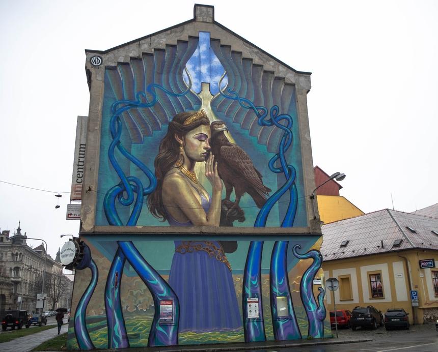 Mural wOłomuńcu