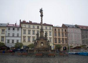 Dolny Rynek słynie zKolumny Mariackiej, Ołomuniec
