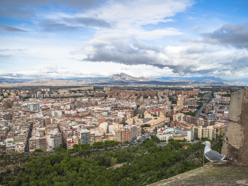 Alicante - widok zzamku namiasto