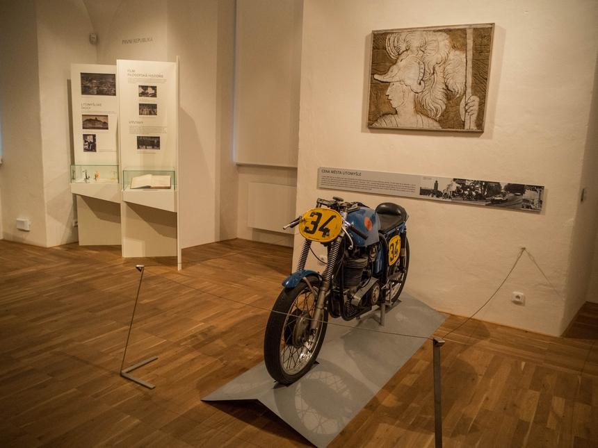 Motocykl ESO 500 wMuzeum Regionalnym, Litomyśl