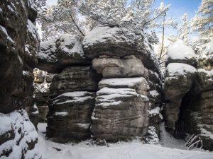 Błędna skały zimą