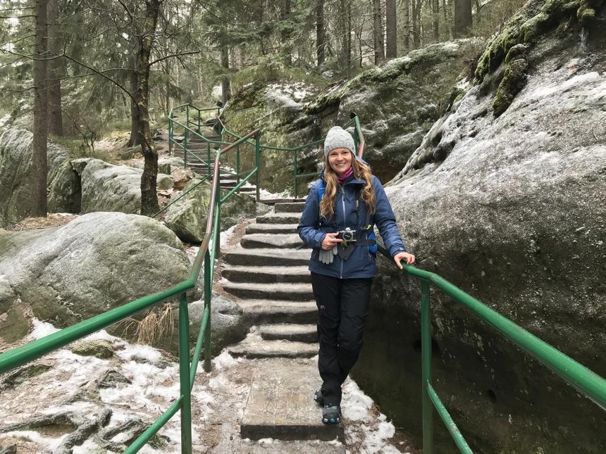 Zimowe wejście na Szczeliniec Wielki, Góry Stołowe