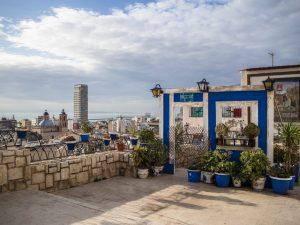 Taras widokowy wdzielnicy Santa Cruz, Alicante