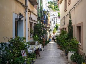 Wąskie uliczki Santa Cruz, Alicante