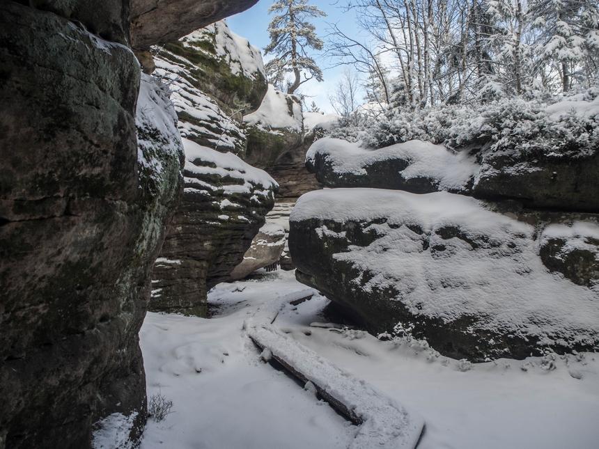 Zimowe Błędne Skały, Góry Stołowe