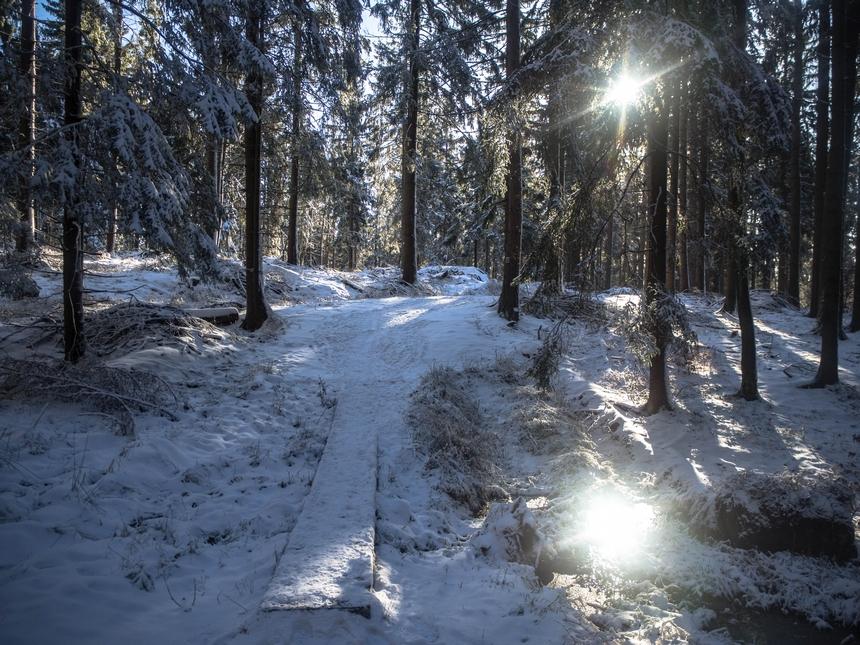 Zimowe wejście naBłędne Skały