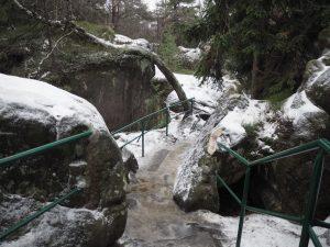 Zimowe wejście naSzczeliniec Wielki, Góry Stołowe