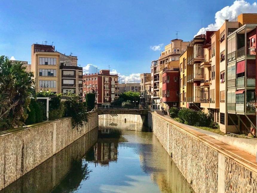 Orihuela - widok narzekę, Hiszpania