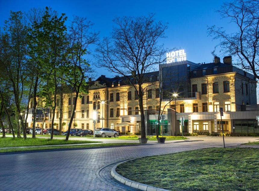 Hotel Loft 1898 Suwałki - widok nocą