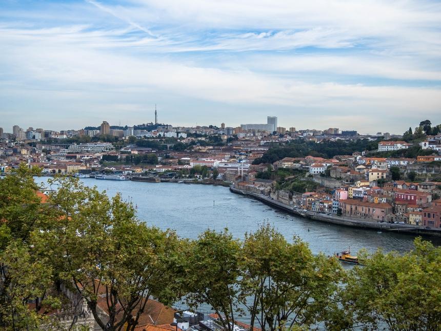 Widok na Porto z Crystal Palace Garden