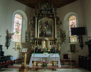 Wnętrze kościoła wChrzypsku Wielkim