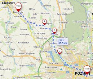 Szlak Stu Jezior - trasa Poznań - Baborówko