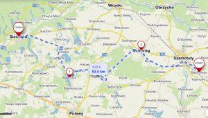 Szlak Stu Jezior - trasa Baborówko - Sieraków