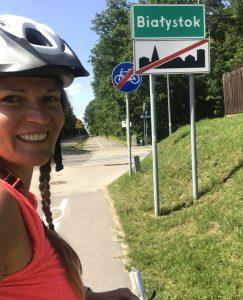 Białystok - zdjęcie zzakończenia wyprawy rowerowej