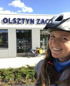 Olsztyn - początek rowerowej wyprawy szlakiem Green Velo