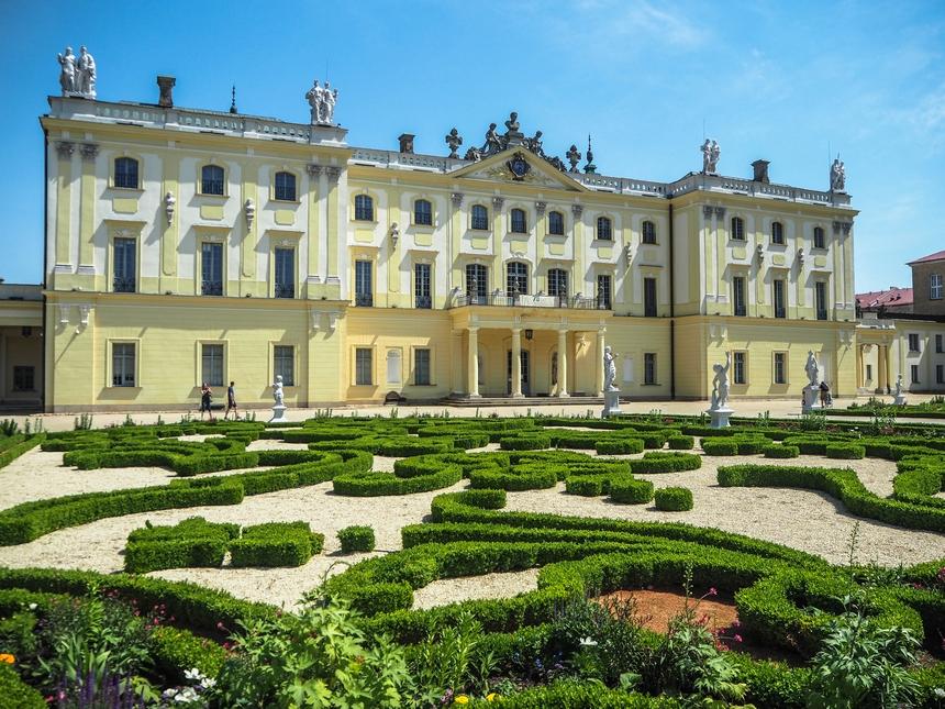 Pałac Branickich od strony ogrodu, Białystok