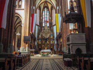 Wnętrze Bazyliki Katedralnej wBiałymstoku