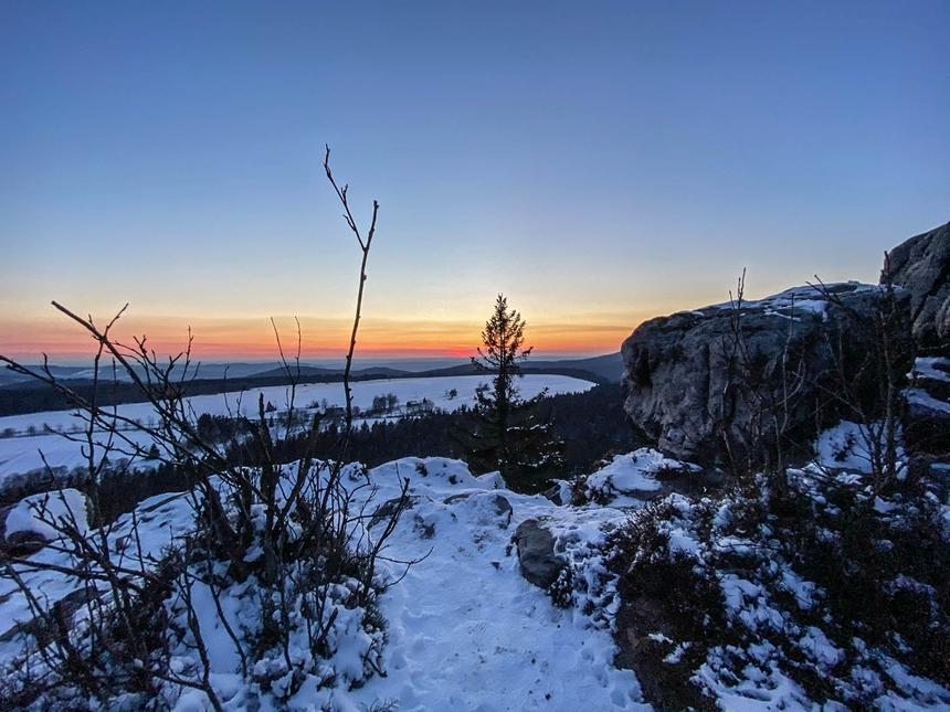 Ostatnie spojrzenie nazachód słońca - Góry Stołowe