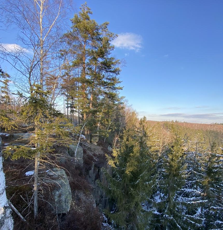 Widoki ze Skał Puchacza - Góry Stołowe