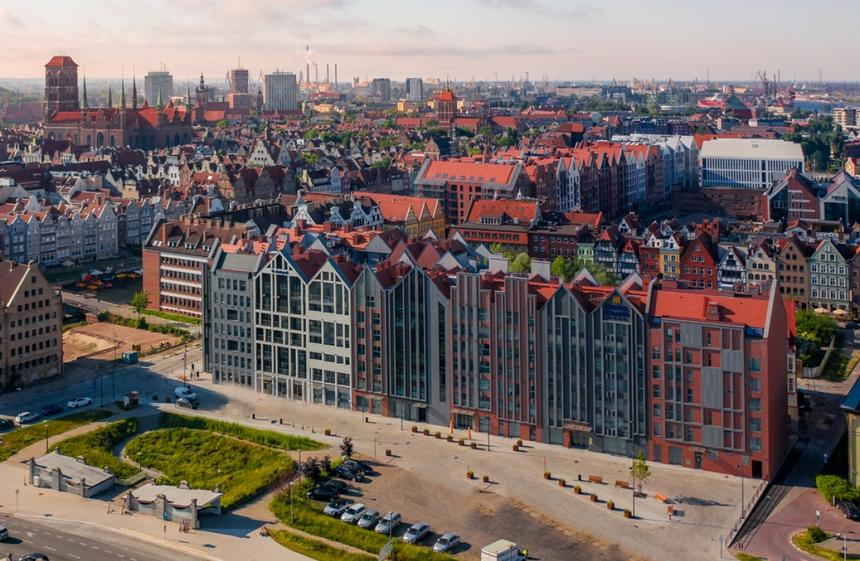 Gdański Hotel Grano - widok zlotu ptaka