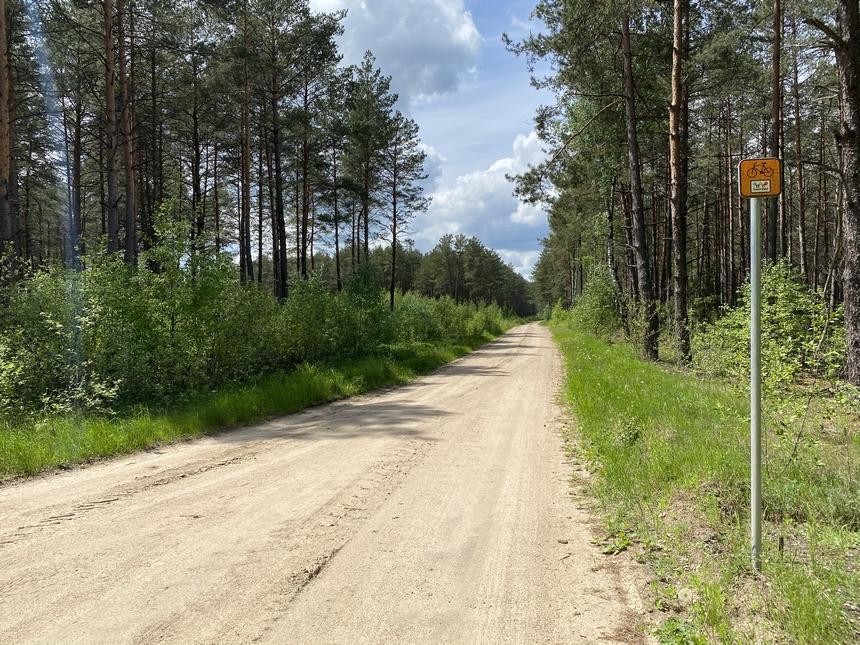 Szlak Green Velo naodcinku Gołubowszczyzna - Nurzec-Stacja